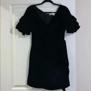 Black, velvet, free people dress